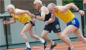 Дедушка мотивирует заниматься спортом