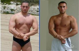Ролик - до и после занятий бодибилдингом