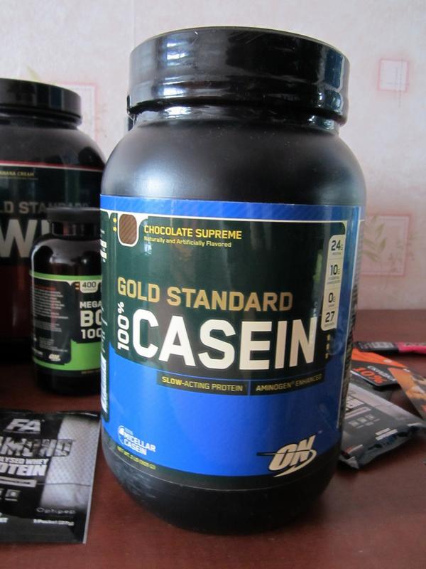 Обзор казеинового протеина 100% Casein Protein от Optimum Nutrition